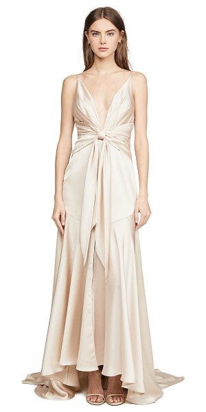 Fame and Partners lake dress in light nude