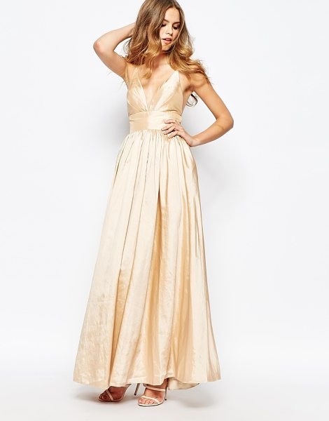 FAME AND PARTNERS Plunge Neck Serpent Maxi Dress - Maxi dress by Fame and Partners, Woven fabric, V-plunge...