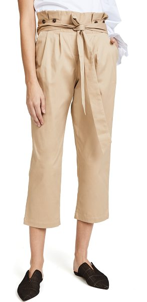 Fame and Partners the beau pants in sand - These relaxed Fame and Partners pants have a pleated...