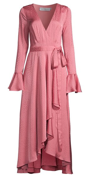 Fame and Partners the maude wrap dress in lily pink