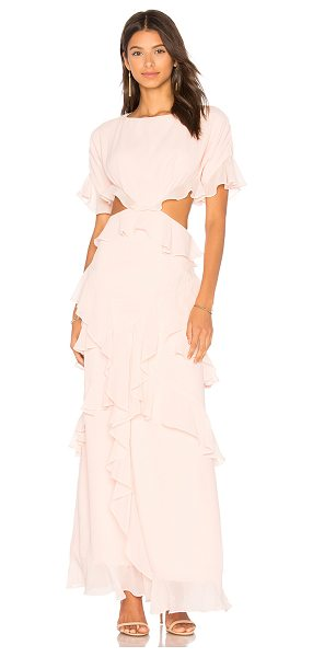 Fame and Partners x REVOLVE Marisa Ruffle Dress in pink - Self & Lining: 100% poly. Dry clean only. Fully lined....