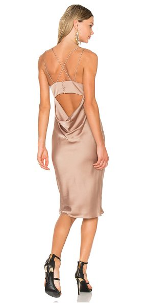 Fame and Partners X REVOLVE Ziv Midi Dress in beige - Poly blend. Dry clean only. Fully lined. Back cut-out...