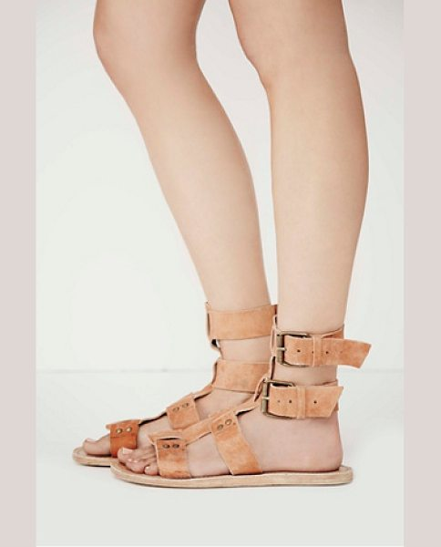 Faryl Robin + Free People Carlyn mid gladiator sandal in brown
