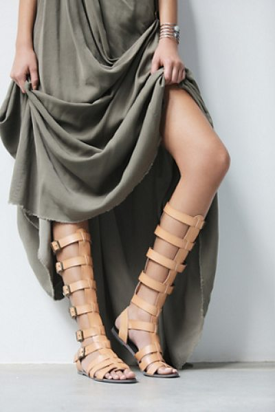 Faryl Robin + Free People Republik vegan gladiator sandals in taupe - The perfect gladiator sandal in vegan leather. Features...