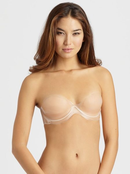 Fashion Forms Body sculpting push-up bra in nude - Flattering strapless silhouette with push-up cups....