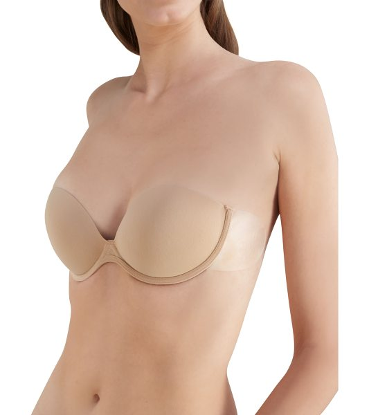 FASHION FORMS Go Bare Push-Up Bra - Nude. Ideal for strapless, backless, sheer, and halter...