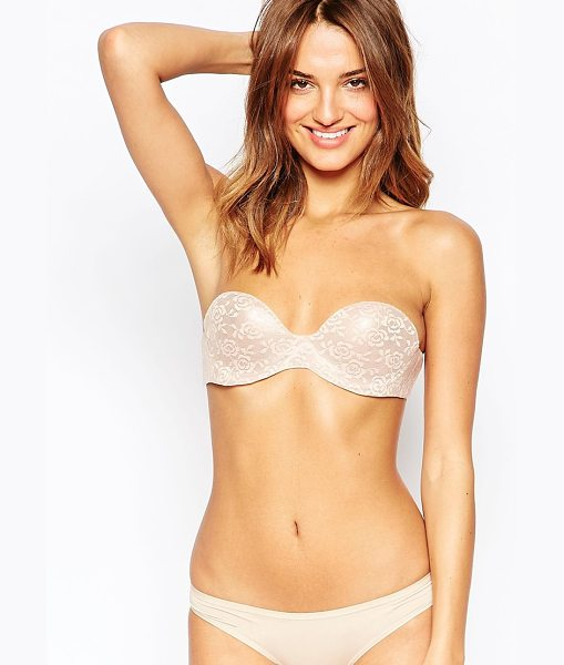 Fashion Forms Lace Bodysculpting Stick On Bra in beige - Bra by Fashion Forms, Lace overlay, Strapless and...