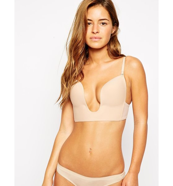 Fashion Forms seamless u plunge bra in nude