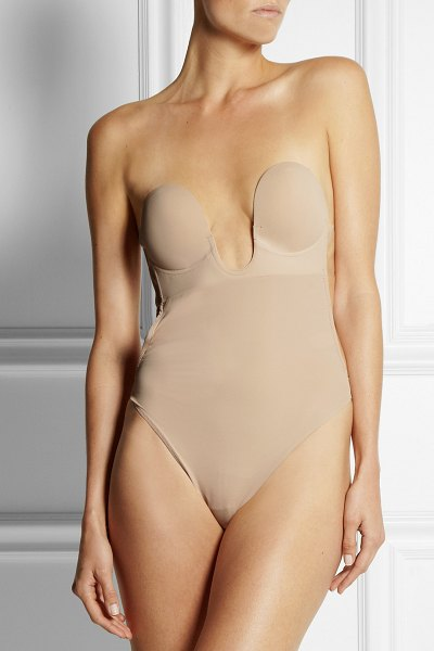 8e767c5787 Fashion Forms u-plunge self-adhesive backless thong bodysuit in neutral - Fashion  Forms