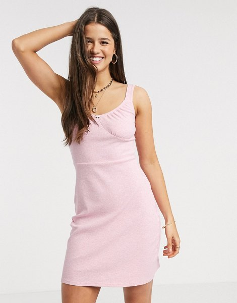 Fashion Union bodycon mini dress with rose detail-pink in pink