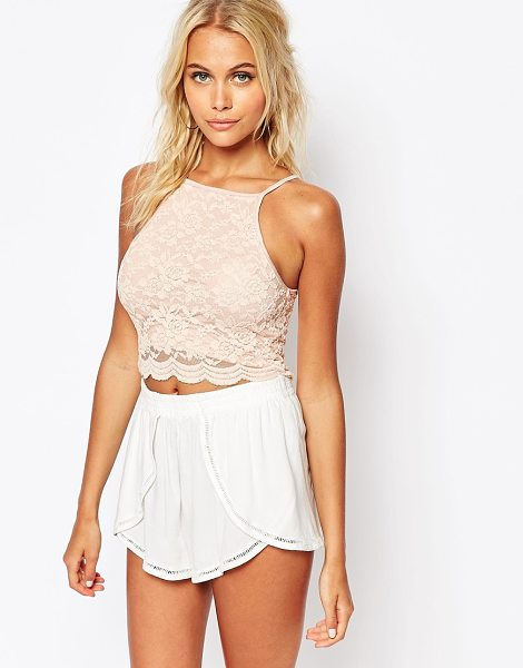 FASHION UNION Lace tank - Tank by Fashion Union, Lined lace, Square neckline,...