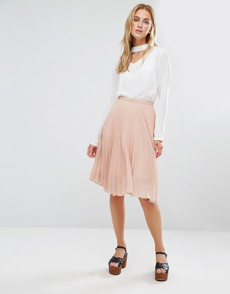 Fashion Union Midi Skirt in pink - Midi skirt by Fashion Union, Lined mesh fabric,...