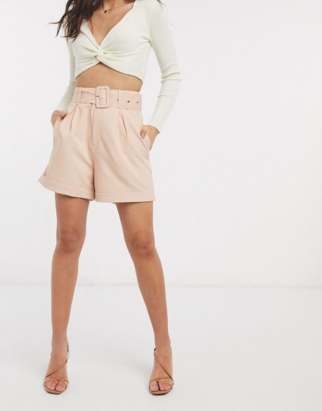 Fashion Union relaxed tailored shorts-pink in pink