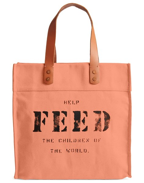 FEED market tote in pink