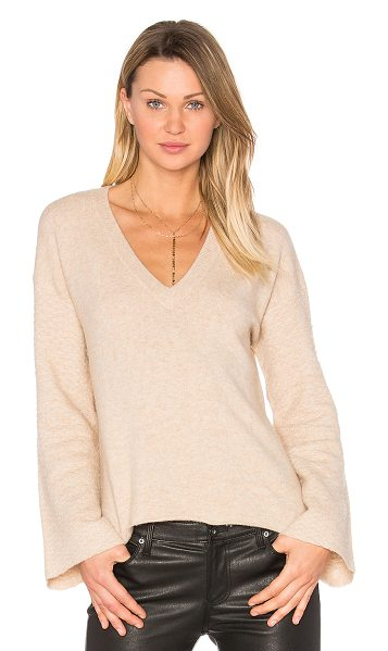Feel the Piece Wesley Sweater in tan - 62% nylon 26% wool 8% alpaca 4% spandex. Dry clean only....