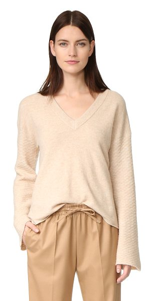 FEEL THE PIECE wesley sweater - A textured knit forms the long sleeves of this soft Feel...