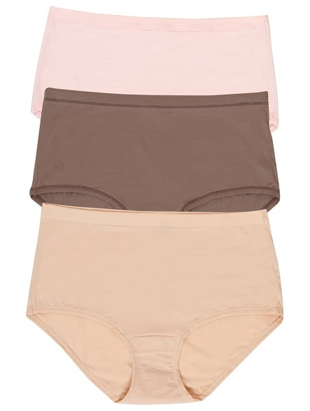 Felina blissful 3-pack stretch briefs in pink