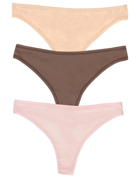 Felina blissful 3-pack stretch thongs in pink