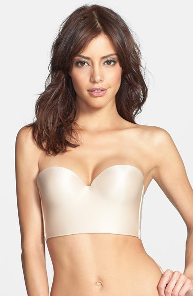 Felina essentials convertible underwire longline push-up bra in bare - Create a flawless foundation with this smooth longline...