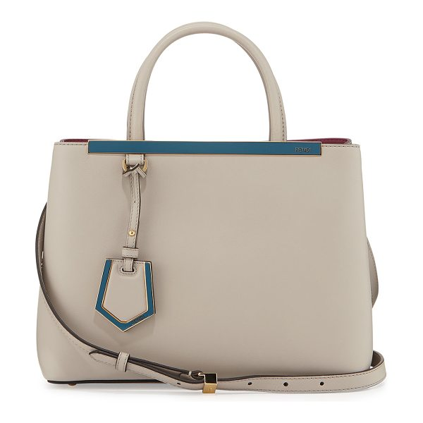 Fendi 2Jours Leather Satchel Bag in taupe