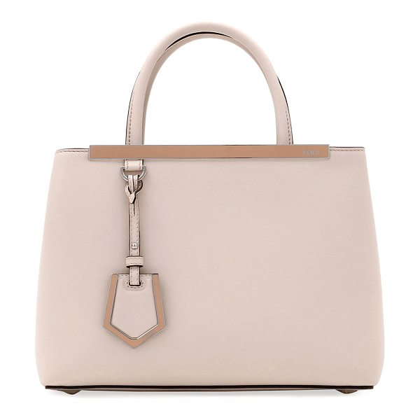 FENDI 2Jours Petite Leather Tote Bag - Fendi smooth calfskin satchel bag with golden hardware....