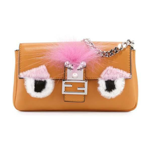 Fendi Baguette Micro Bag Bugs Crossbody Bag in ginger