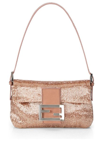 Fendi mini beaded baguette in pink - Sparkle in this rich, beaded style in an iconic,...