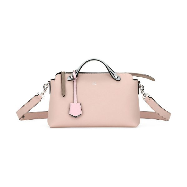 Fendi By The Way Small Colorblock Leather Satchel Bag in light pink