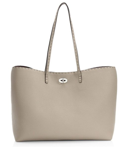 Fendi carla selleria leather tote in cordabx - Crafted of richly textured pebbled leather, this...