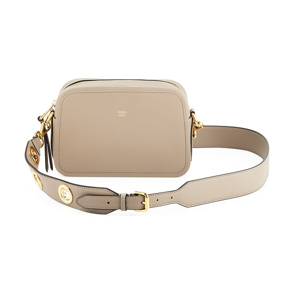 Fendi FendiCam Calf Crossbody Bag in light brown - Fendi smooth calf leather crossbody bag with golden...
