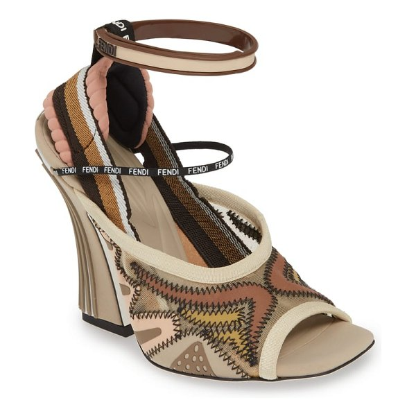 Fendi ffreedom peep toe sandal in beige (nordstrom exclusive) - Inspired by futuristic geometric designs and detailed...