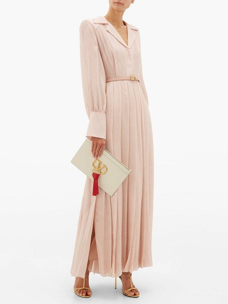 Fendi gloria fil-coupé silk-blend shirtdress in pink