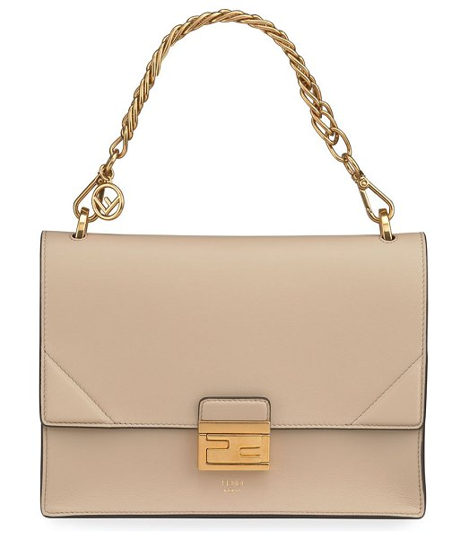 Fendi Kan U Grace Matte Shoulder Bag in cream