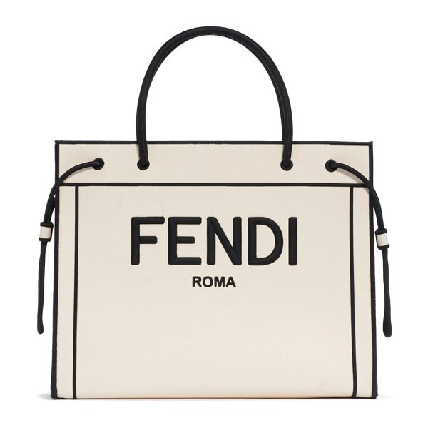 Fendi medium roma shopper in beige