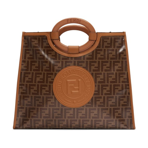 Fendi medium runaway logo shopper in brown