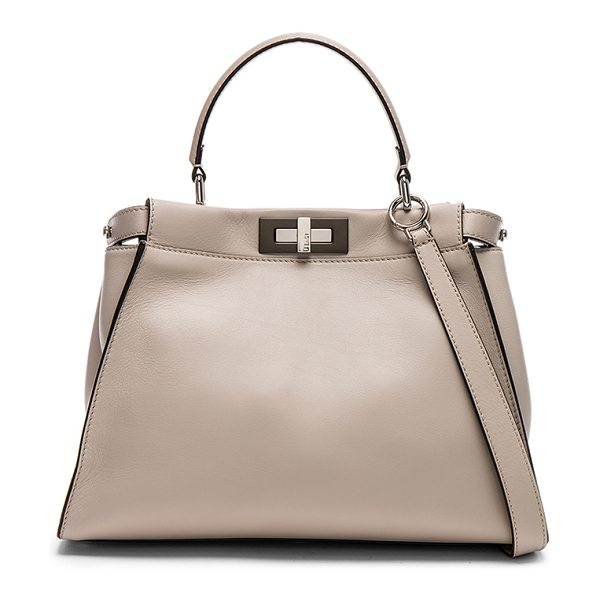 Fendi Regular Peekaboo in grey powder & bordeaux