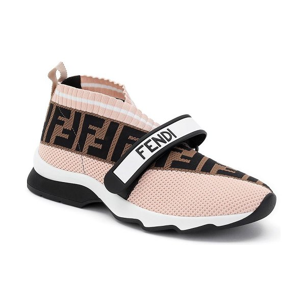 Fendi rockoko knit sock sneakers in pink