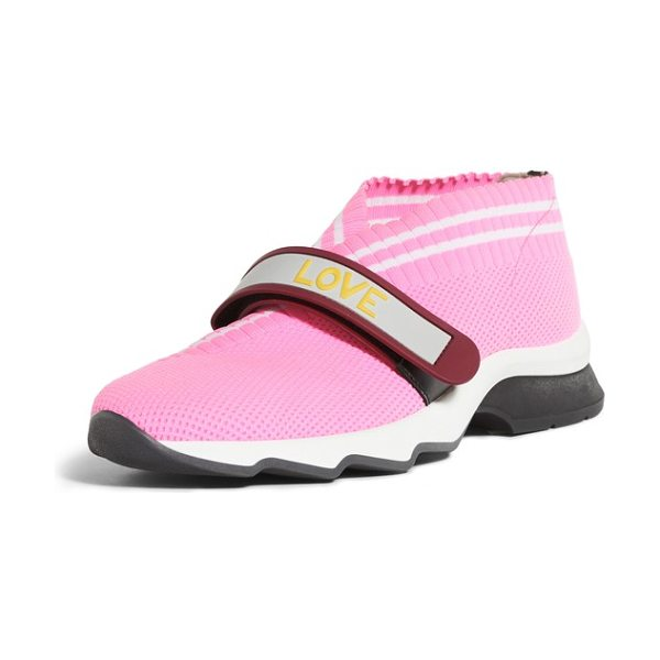 Fendi rockoko mismatch sneaker in pink -