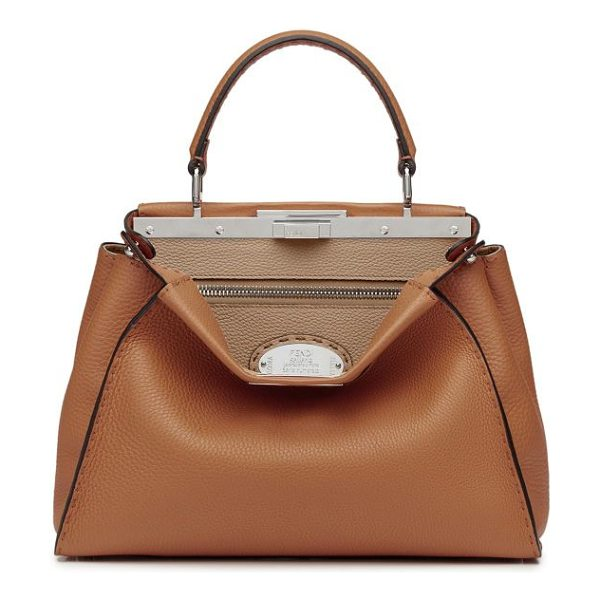 FENDI selleria peekaboo leather satchel - A Fendi classic crafted of richly textured pebbled...
