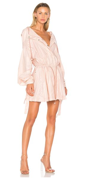 FENTY PUMA by Rihanna Bow Cuff Parachute Jacket in cameo rose - Shell: 100% nylonContrast: 100% poly. Hand wash cold....
