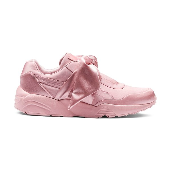 FENTY PUMA BY RIHANNA Bow Satin Sneakers - Satin upper with rubber sole.  Made in Vietnam.  Bow...