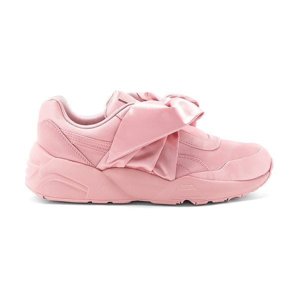 FENTY PUMA by Rihanna Bow Sneaker in pink - Satin textile upper with rubber sole. Front bow closure....