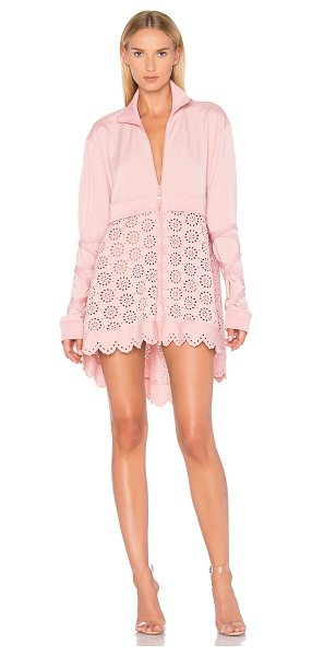 FENTY PUMA by Rihanna Eyelet Jacket in bridal rose