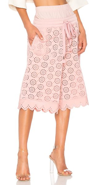 FENTY PUMA by Rihanna Eyelet Long Short in bridal rose - Self: 100% cottonContrast: 100% poly. Hand wash cold....