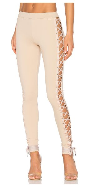 FENTY PUMA by Rihanna Lacing Legging in beige - 62% viscose 33% nylon 5% elastane. Elastic stretch fit....
