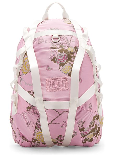 FENTY PUMA by Rihanna Parachute Backpack in silver pink - Printed poly exterior with nylon fabric lining. Zip...