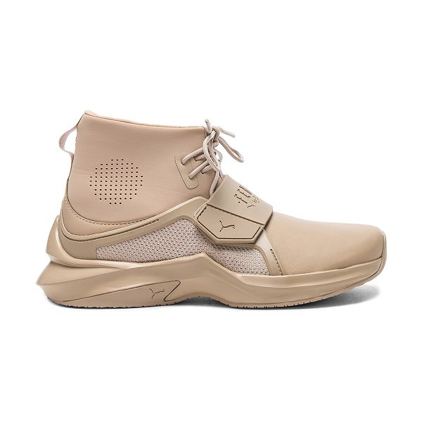 FENTY PUMA by Rihanna Trainer Sneaker in beige - Leather upper with rubber sole. Lace-up front. Velcro...
