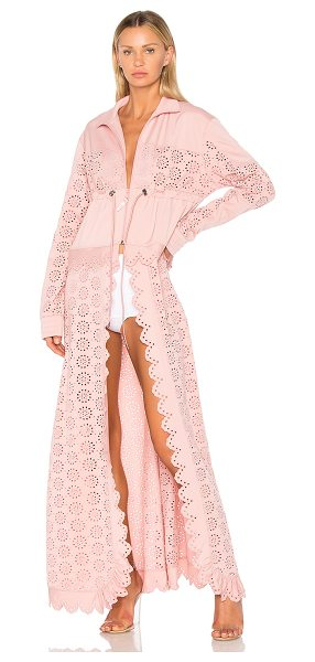 FENTY PUMA by Rihanna Tricot Zip Off Cape Jacket in bridal rose - Self: 100% polyContrast: 93% poly 7% elastane. Hand wash...
