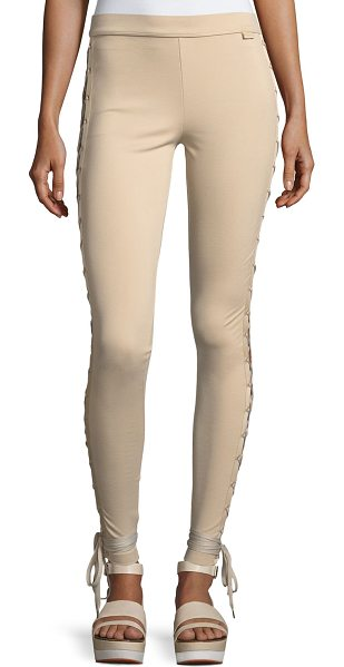 FENTY PUMA BY RIHANNA Boxing & Bomber Lacing Tights - Fenty Puma by Rihanna ponte-knit tights with satin trim....