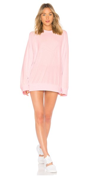 FENTY PUMA by Rihanna Crew Neck Pullover in pink - Self: 80% cotton 20% polyRib: 96% cotton 4% elastane....